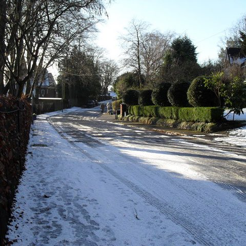 Telecare Alarm System - snow and ice on road